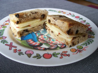 Honey and Apple Sandwich